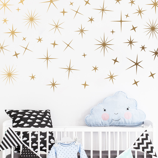 Perfect Quality Sparkle Wall Sticekrs for Baby Girl Nursery Gold ...