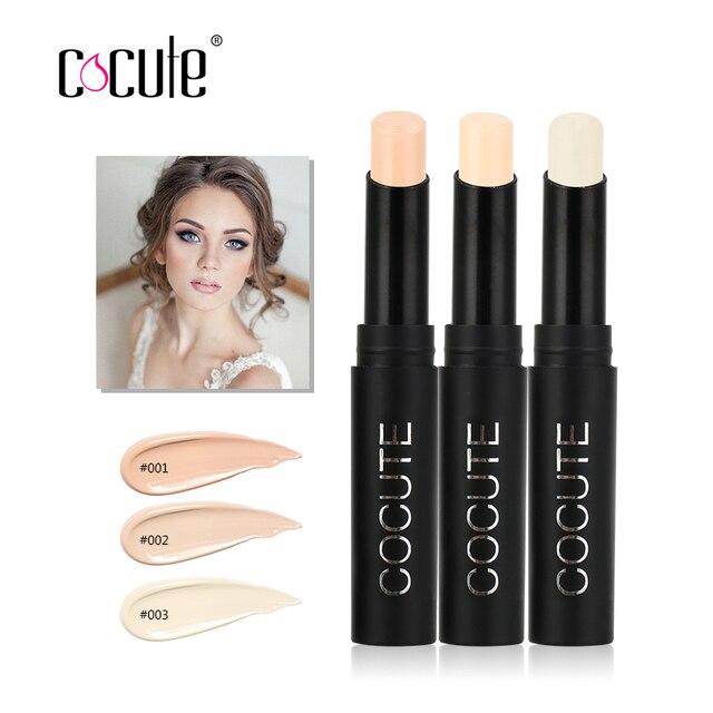 Cocute Makeup Natural Cream Concealer Pen Highlight Contour Pen Stick Single Head Concealer Face Foundation Brighten 3 Color