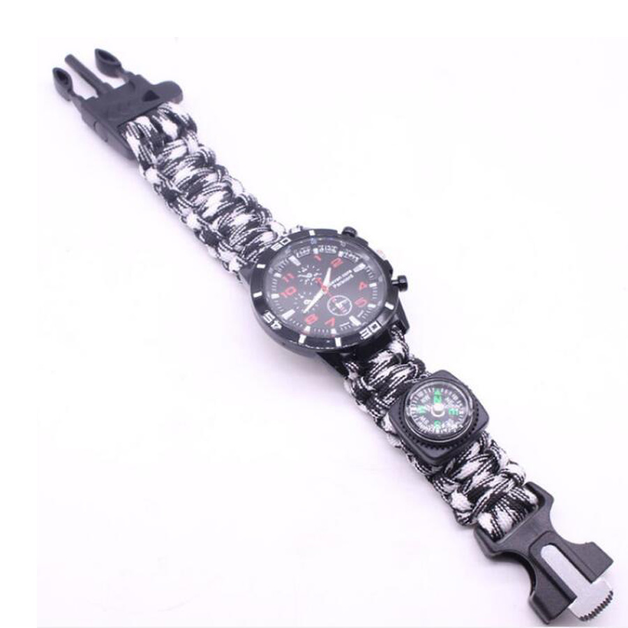 Military Outdoor Paracord Survival Bracelet Compass (1)