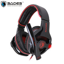 Sades SA-903 Gaming Headset Best casque 7.1 Surround Sound USB Wired Headphones with Microphone Volume Control for PC Gamer(China)