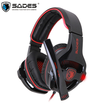 Sades SA-903 Gaming Headset Greatest casque 7.1 Encompass Sound USB Wired Headphones with Microphone Quantity Management for PC Gamer