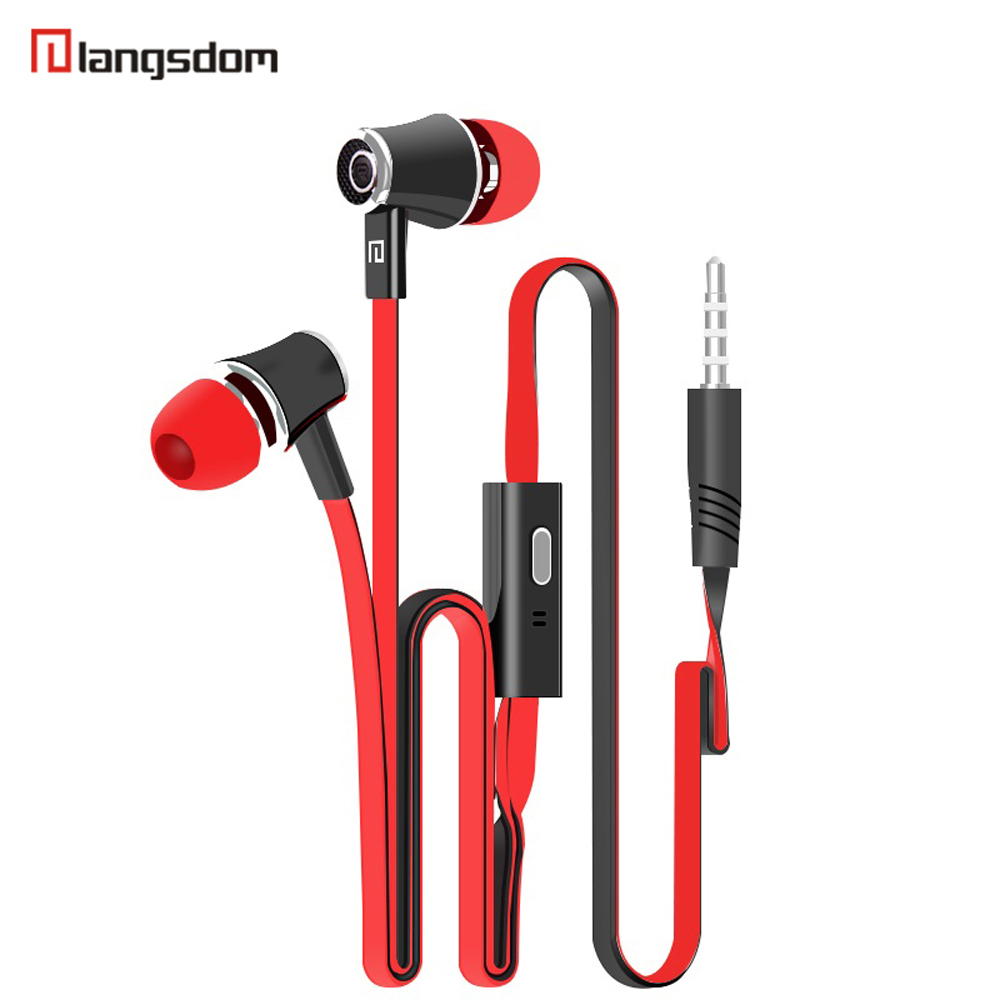 Langsdom JM21 Stereo Bass Earphone Earpieces Headset with MIC 3.5MM Hands-free for Apple Samsung Sony HTC Mp3 Tablet yotaphone 2 rock y10 stereo headphone earphone microphone stereo bass wired headset for music computer game with mic