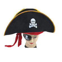 Creative Halloween Accessories Skull Hat Caribbean Pirate Hat Skull Pirate Hat Piracy Hat Corsair Cap Party Supplies