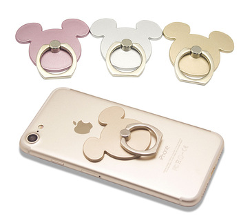360 Degree Finger Ring Cute Mickey Design cartoon Mobile Phone Smartphone Stand Holder For all Phone Luxury Couple Models
