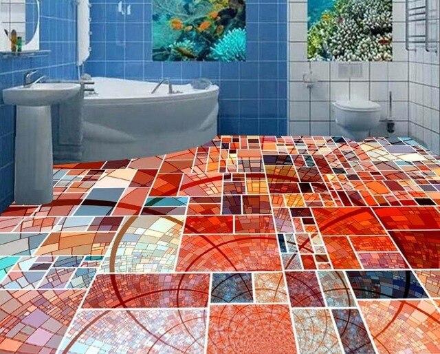 Benutzerdefinierte Foto Boden Tapete 3d Stereoskopischen Mosaik Box