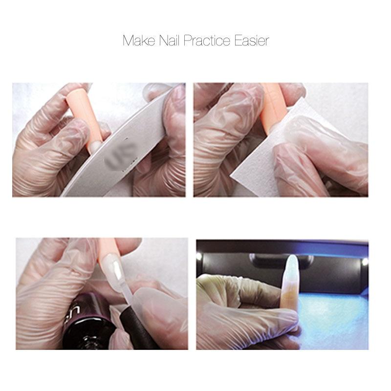 5 Unids / set Nail Art Trainer Entrenamiento Práctico Modelo Dedo - Arte de uñas - foto 3
