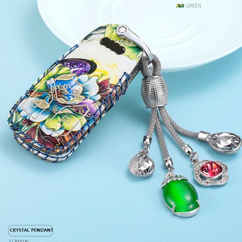 Car Key Cover Case Key Case For AUDI 2018 A4 B9 Q5 Q7 TT TTS 8S 2016 2017 car smart remote Car Styling girls leather key bag