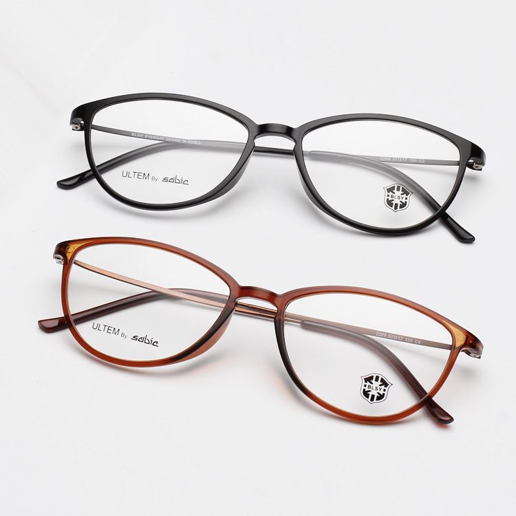 2c927bfa29f Fashion Women Ultra Light Thin Small Cat Eye Glasses Frame Tungsten Ultem Plastic  Steel Optical .