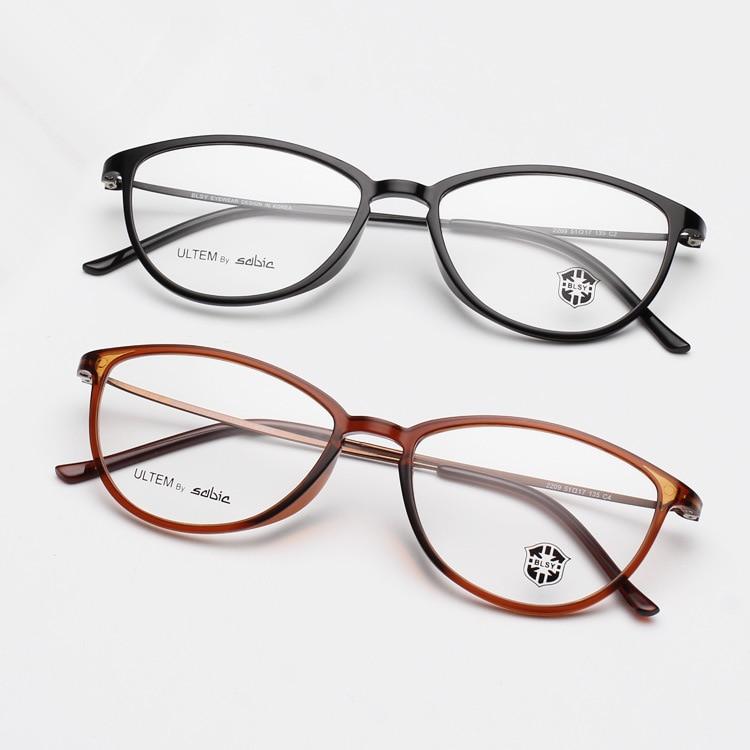 MOYSSEN Fashion Women Ultra Light Thin Small Cat Eye Glasses Frame ...