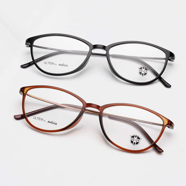 f6e970ee3fb MOYSSEN Fashion Women Ultra Light Thin Small Cat Eye Glasses Frame Tungsten  Ultem Plastic Titanium Optical