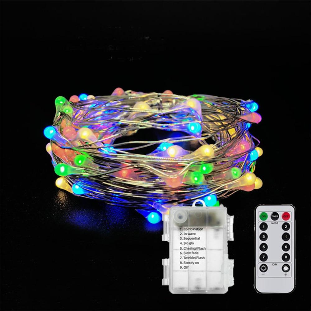Einfach 100 Led String Lichter Fariy Lichter Batterie Betrieben Wasserdicht