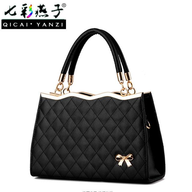 Fashion Handbag Knot Shoulder Bag Leather