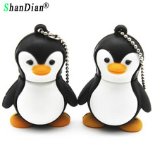 SHANDIAN animal Pen drive cartoon Penguin 4gb 8gb 16gb 32gb usb 2.0 flash drive memory stick pendrive flashdrive gift