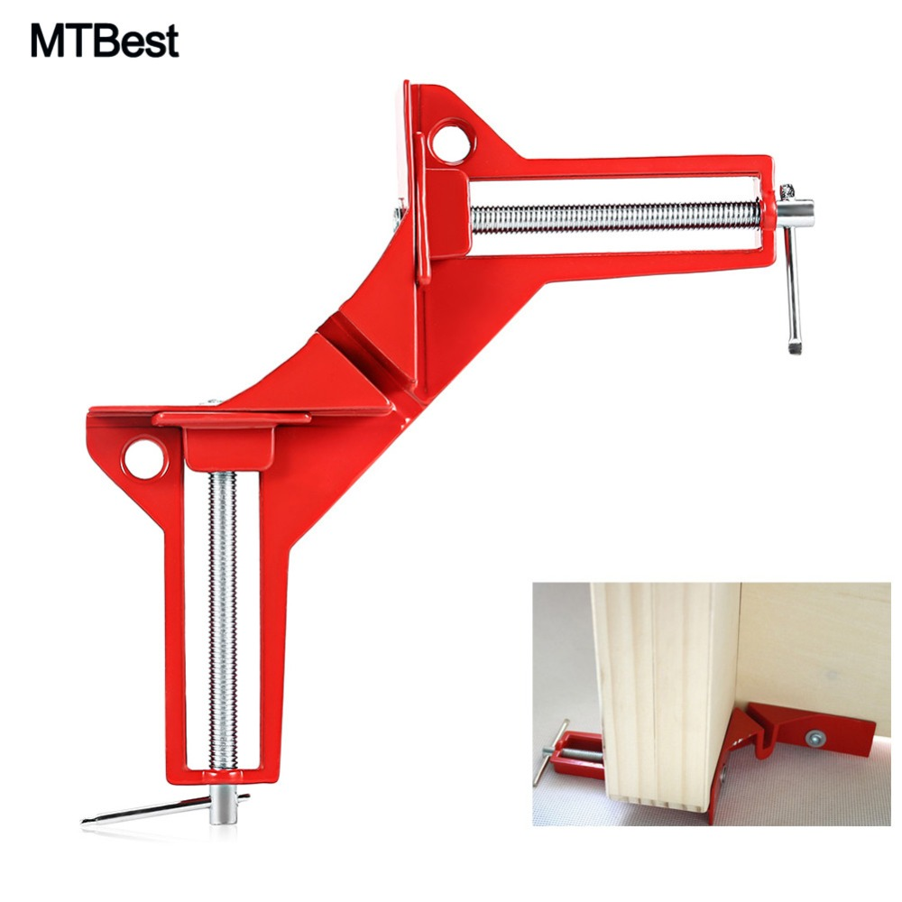 90° Degree Right Angle Clip Woodworking Hand Tool Picture Frame Corner Clamp HQ