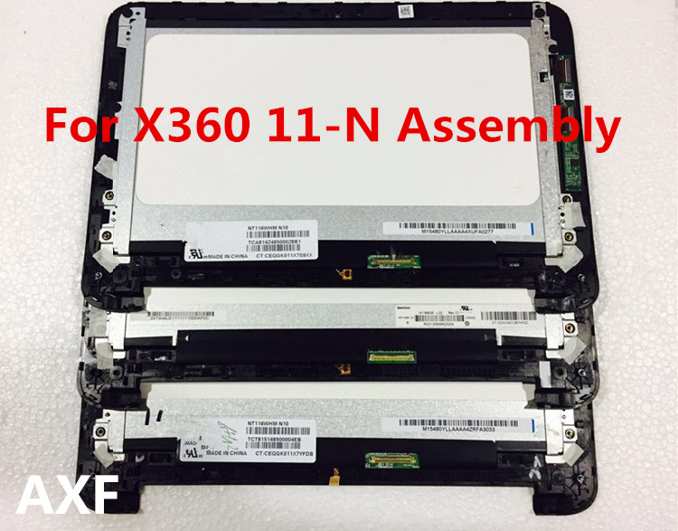 11.6'' LCD Assembly Touch LCD Screen Dislay For pavilion x360 11-n010dx With frame computer h1 h2 lcd screen with touch assembly