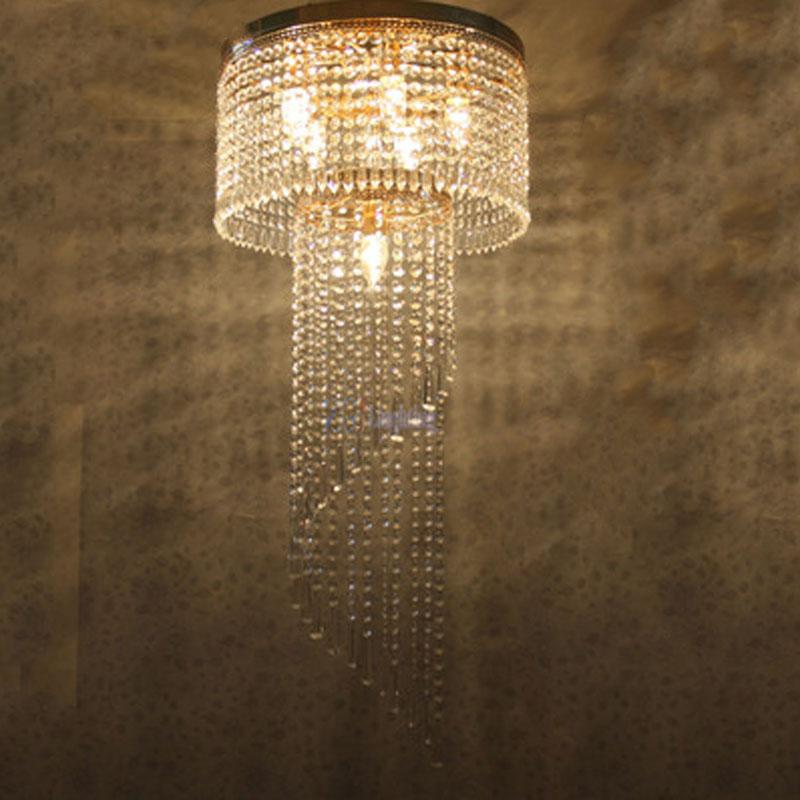 Led Kristall Pendelleuchte Rund Grosse Moderne Mode Wohnzimmer Lampen Restaurant Penthouse Boden Halle Treppen Licht