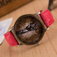 Men And Women's Colorful Jeans Band Wristwatch Retro Quartz Brand New Watch Of The Soldier In The Crossfire Dial reloj mujer