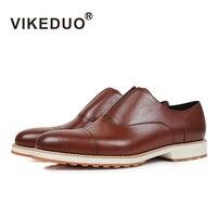 Vikeduo Ручной Работы Дизайнера Slip On Fashion Повседневное офисные Свадебная вечеринка бренд мужской обуви из натуральной кожи Для мужчин Лоферы Т