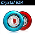 [ Crystal Wheel ] 8 Pcs/Lot 85A Slalom FSK Street Inline Skates Wheel, High Transparent Crystal Elastic Durable 80mm 76mm 72mm