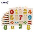 Pouco J 30 cm Kid Primeiros Brinquedos Educativos Mão Do Bebê Agarrar Jigsaw Puzzle Brinquedo de Madeira Do Alfabeto Digital Aprendizagem Educação Infantil brinquedo