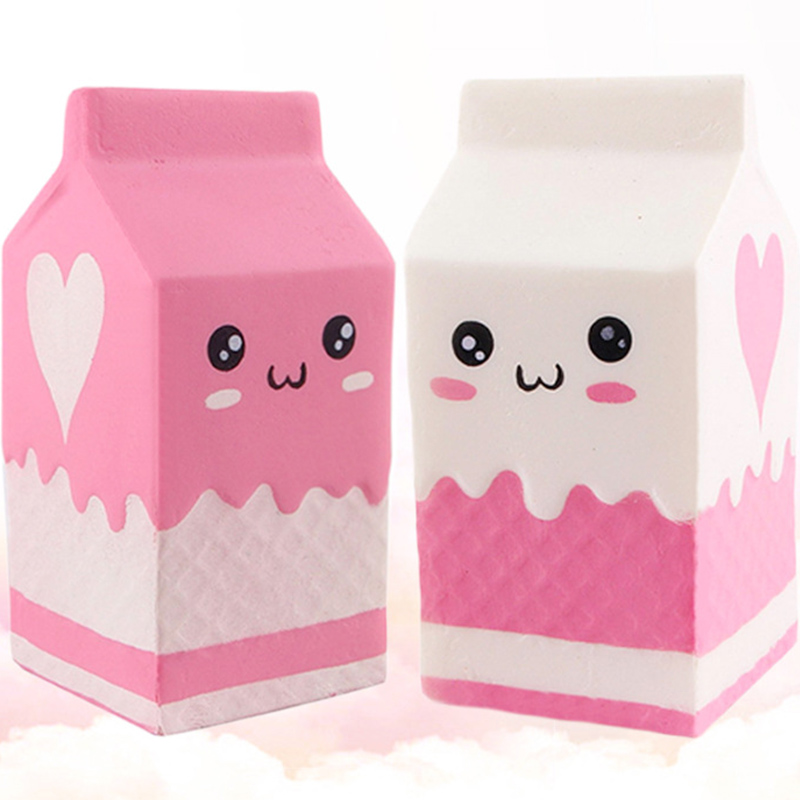 Squishy milk bottle/can/box Squeeze Soft Slow Rising Phone Key Chain Strap Pendant Roll Squishes PU Cute Anti-stress toys ZJD 12cm smile squishy milk bag bottle can box squeeze fun soft slow rising stress reliever jumbo squishes pu antistress toys