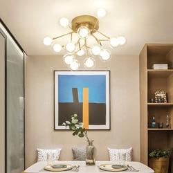 LED lampa sufitowa do salonu romantyczna główna sypialnia oświetlenie LED energooszczędna kula kąpielowa Firefly sypialnia lampa sufitowa