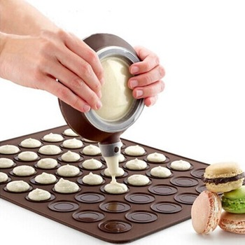 Macarons Flower Pot Silicone Milker Squeezer Cake Macarons Pot Sauce Squeezed Baking Tools
