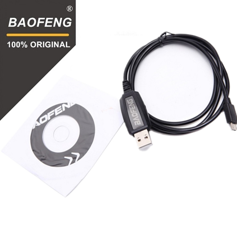 100% Original Baofeng T1 Walkie Talkie USB Programming Cable For T1 Two Way Radio BF-9100 BF-T1 Y Port Driver With CD Software