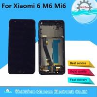 Original M&Sen For 5.15 Xiaomi 6 MI 6 Mi6 M6 with fingerprint LCD screen display +Touch digitizer with frame for xiaomi mi 6