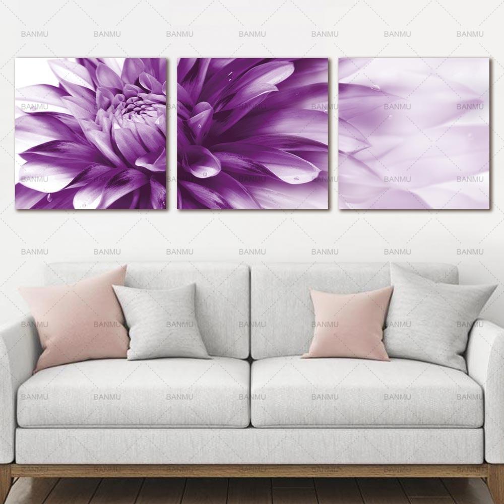 Kanvas lukisan, Seni dinding bunga seni HD Giclee seni cetak di atas - Dekorasi rumah - Foto 4