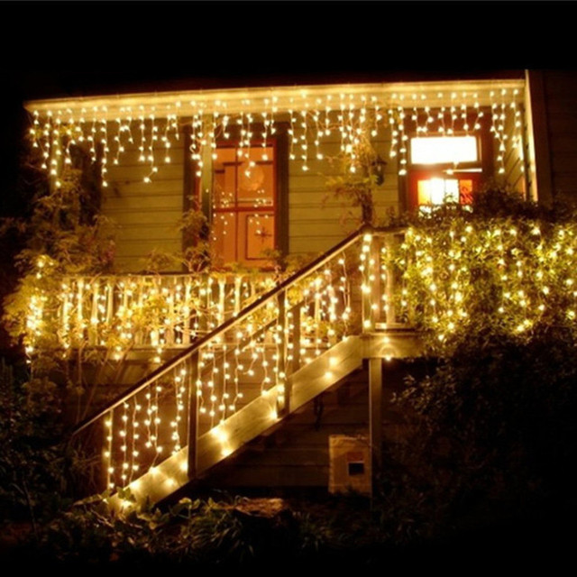 96 led christmas outdoor light length 4m droop 03 06m curtain 96 led christmas outdoor light length 4m droop 03 06m curtain icicle led lights aloadofball
