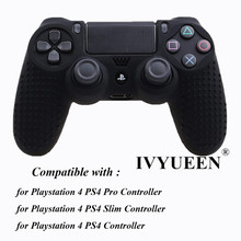 IVYUEEN 17 Colors Anti-slip Silicone Cover Skin Case for Sony PlayStation Dualshock 4 PS4 DS4 Pro Slim Controller & Stick Grip