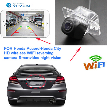 YESSUN  New arrival For Honda City Fit Sedan2013~2015 for Honda CivicCiimo 2012~2015 Night Vision Reverse wireless hd Camera CCD