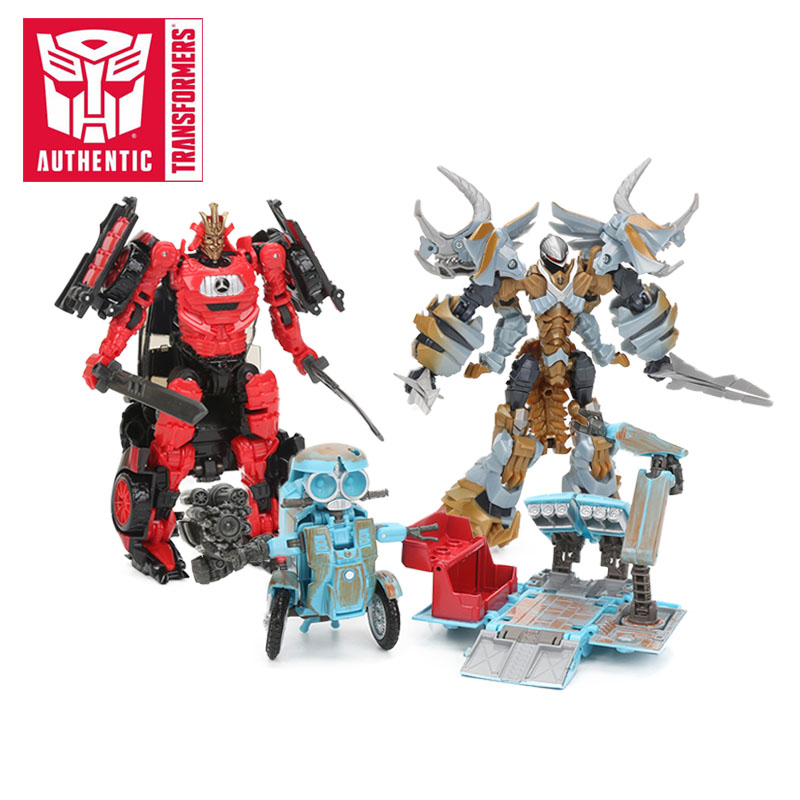 Transformers Toys The Last Knight Premier Edition Steelbane Deluxe Dinobot Slug Autobot Sqweeks Action Figures Collection Model hasbro transformers toys the last knight premier edition voyager class autobot hound action figure collection model car toy