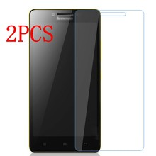 2PCS Original Tempered Glass For Lenovo A6000 A6010 Screen Protector protective film For A6010 Plus Glass(China)