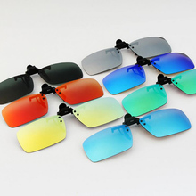 Hot Polarized Clip on Sunglasses Unisex clip on sun glasses Men Women mirrored lens clip Sun Glasses UV 400 Night Vision Driving