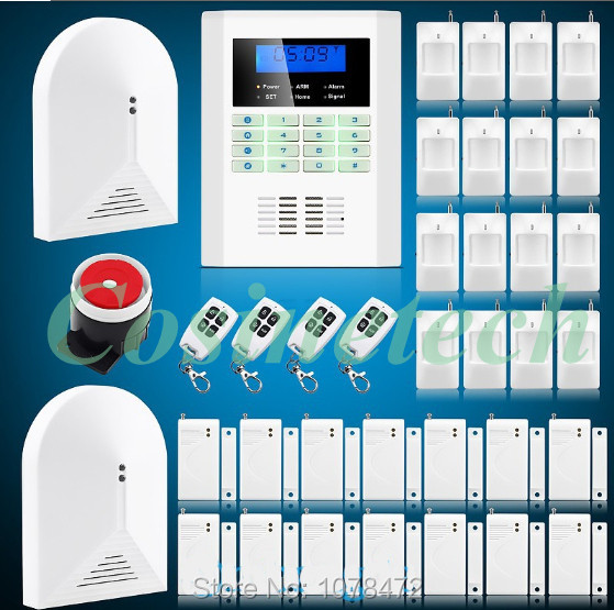 DIY Intelligent SMS Voice remote control 850/900/1800/1900MHz GSM PSTN Alarm System in English,French, Russian,Italian,Chinese