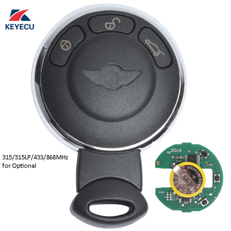 KEYECU Replacement Remote Car Key Fob 3 Button for BMW Mini Copper 2007-2014 FCC ID:KR55WK49333
