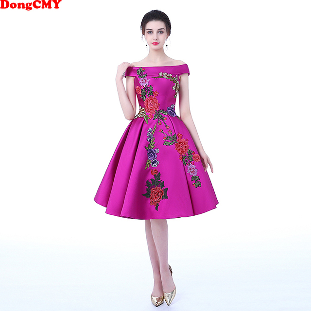 $  Prom Dresses DongCMY Flower Party 2020 Lace Purple Plus Size Formal Evening Sleeveless Boat Neck Party Ball Gown