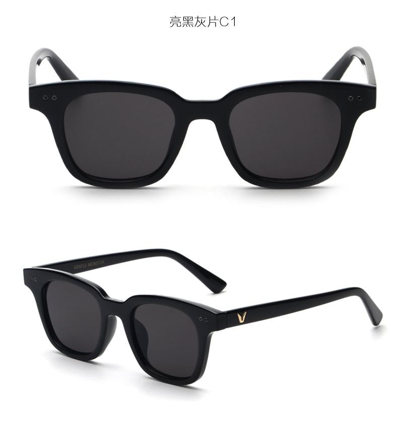 4bd5df2d759d78 2016 New Rétro Style Carré UV400 lunettes de Soleil Hommes Femmes Corée  Tendance Marque Designer Pas Cher Petit Soleil Lunettes Femelle Aujourd hui  Offre ...