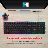98 HXSJ J40 USB Wired Colorful Backlight Keyboard 5500DPI Adjustable Mouse for Windows 98/Me/2000/XP/Vista/Win7/8/10/Vista/Mac OS (2)