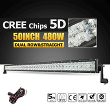 """Oslamp 50 """"480 Watt 5D CREE Chips Led-lichtleiste Offroad Led Bar Arbeit licht Fahren Lampe Combo Strahl für Lkw Pickup 4X4 4WD 12 v 24 v"""
