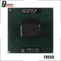 Intel Core 2 Duo T9550 SLGE4 2.6 GHz Dual Core Dual Thread CPU Processor 6M 35W Socket P|CPUs| |  -
