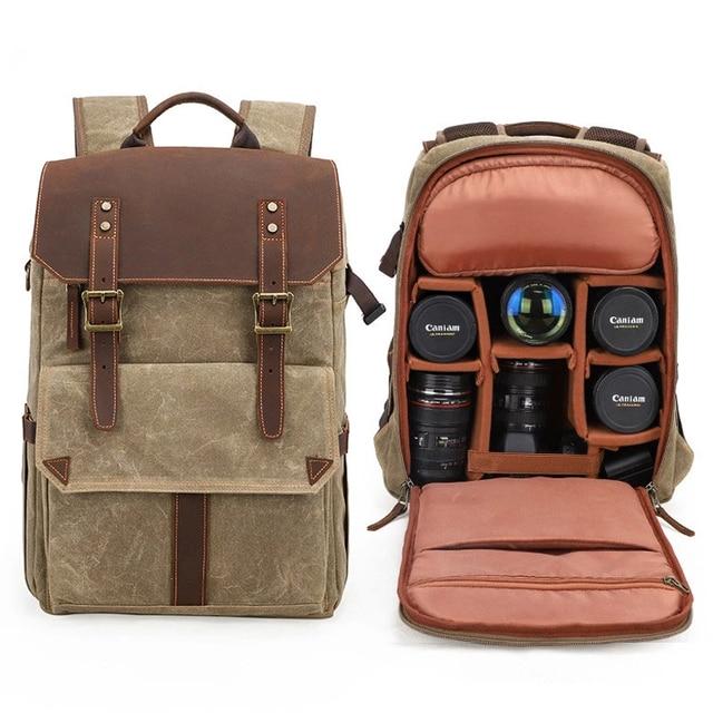 Große Qualität Große Kapazität Tasche Laptop Taschen Anti diebstahl Leinwand Stoßfest Reise DSLR Tragen wider Wasserdicht Für Canon Nikon-in Kamera/Video Taschen aus Verbraucherelektronik bei