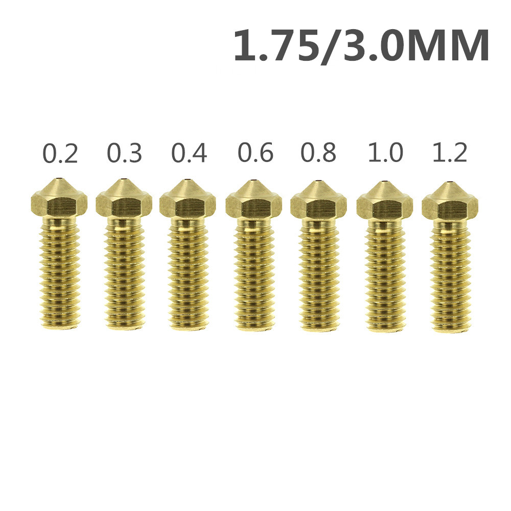 Volcano Nozzles 3D Printer All Metal Brass 3D Lengthen Extruder Nozzle 0.2/0.3/0.4/0.6/0.8/1.0/1.2mm for 1.75/3mm SuppliesVolcano Nozzles 3D Printer All Metal Brass 3D Lengthen Extruder Nozzle 0.2/0.3/0.4/0.6/0.8/1.0/1.2mm for 1.75/3mm Supplies