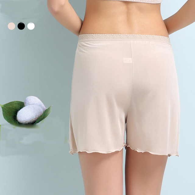 hot  sale 100%  pure silk female leggings Intimate soft  comfortable  leggings  thin section loose and comfortable leggings-b39