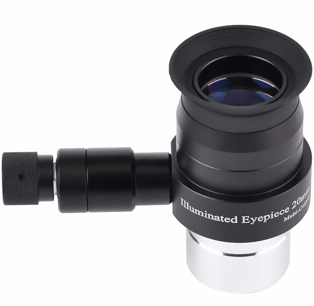 1.25inch 25mm Illmination Eyepiece Supper Plossl Eyepiece and Adjustable Brightness LED Illuminator Monocular (without battery)