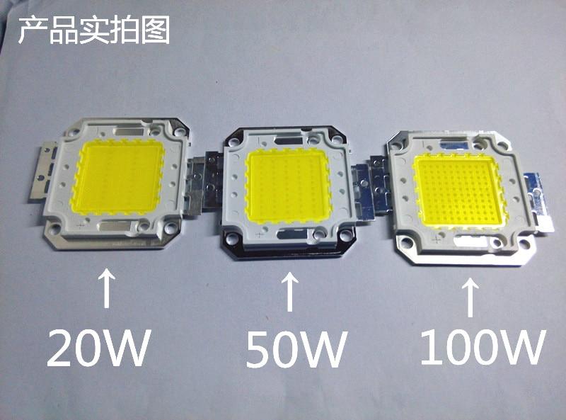 LED vysoce výkonný LED světelný zdroj Zvýrazněné DIY žárovky a klas 100W 50w bílá teplá bílá 30W led COB CHIP doprava zdarma