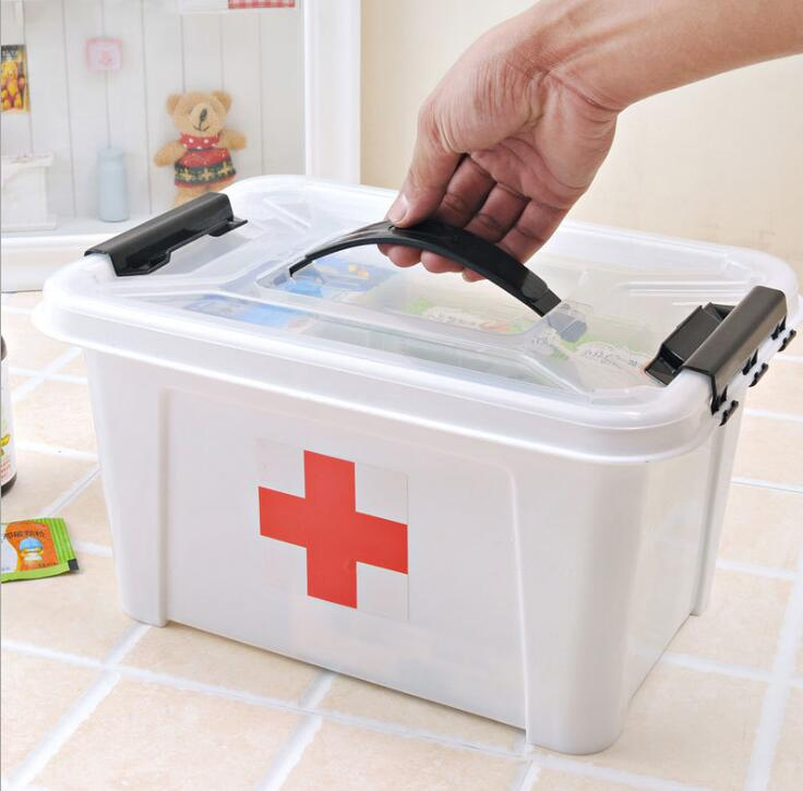 3M Large household medicine box multi-layer drug storage box first aid kit family small children small medicine box health box less medicine more health