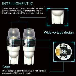 Image 4 - 2 X T10 Led Concave Lens Interieur Gloeilampen Cob Breedte Wedge Side Lampen 6000K Led lampen Voor auto Reading Panel Verlichting